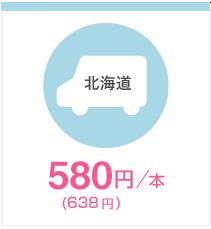 北海道 580円(626円)/本